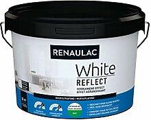 Renaulac White Reflect Wandfarbe, matt, 2,5 l