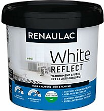 Renaulac White Reflect Wandfarbe, Mattweiß, 1 l