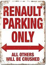 Renault Parking Metall Wandschild Kunst,