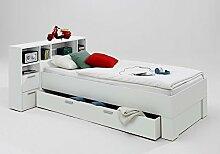 rend-moebel Bett 90x200 Incl. SCHUBKASTEN Regal