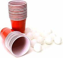 rendaffe Beer Pong Trinkspiel mit 22 Bechern und