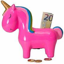 rendaffe Einhorn Spardose in pink - Sparbüchse