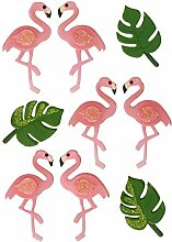 rendaffe Flamingo 3D Sticker im 9er Set - 3D