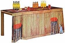 rendaffe Hausbar Tischdecke mit Beer Pong Feldern