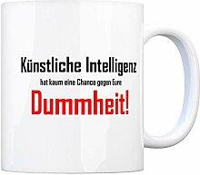 rendaffe - Kaffeebecher und Spruch: Künstliche