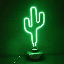 rendaffe Kaktus Dekolampe mit Neon-Licht - Kaktee