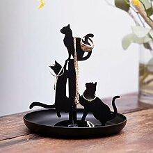 rendaffe Katzen Schmuckhalter - Ringhalter Ringschale Schmuckständer