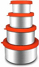 Render 4 Pack Edelstahl Lebensmittelbehälter Set