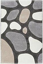 rendiger Designer Teppich maschinengewebt taupe ca. 120 x 170 cm