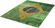 rendiger Teppich Flachgewebe Brasilien ca. 160 x 230 cm