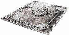 rendiger Teppich Flachgewebe taupe ca. 80 x 150 cm