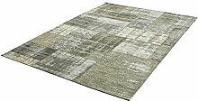 rendiger Teppich Patchwork Optik Flachgewebe ca. 200 x 290 cm