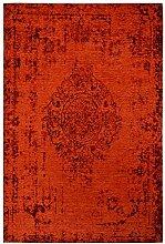 rendiger Teppich Patchwork Optik rot Flachgewebe ca. 77 x 150 cm