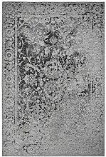 rendiger Teppich Patchwork Optik silber Flachgewebe ca. 120 x 170 cm