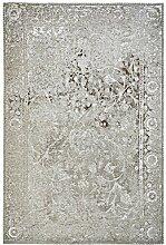 rendiger Teppich Patchwork Optik taupe Flachgewebe ca. 120 x 170 cm