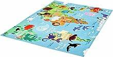 rendiger Teppich Weltkarte for Kids ca. 80 x 120 cm
