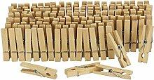 rendmarkt24 Holz-Wäsche-Klammern-Set klein, 100