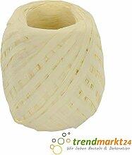 rendmarkt24 Papierkordel Creme 5mm x 50 m 1 Rolle