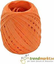 rendmarkt24 Papierkordel Orange 5mm x 50 m 1 Rolle