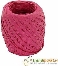 rendmarkt24 Papierkordel Pink 5mm x 50 m 1 Rolle