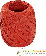 rendmarkt24 Papierkordel Rot 5mm x 50 m 1 Rolle