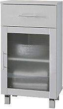 rendteam 1590021 Badezimmer Standschrank, 40 x 75 x 36,5 cm, weiß melamin