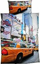 Renforce Bettwäsche Times Square New York Taxi 135x200 cm