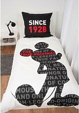 Renforcé-Kinderbettwäsche 90 Jahre Mickey Mickey