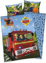 Renforcé-Kinderbettwäsche Feuerwehrmann Sam