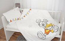 Renforcé-Kinderbettwäsche Mickey Mickey Mouse &