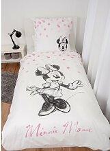Renforcé-Kinderbettwäsche Minnie Mickey Mouse &