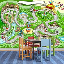 Rennauto Wandbild Fun Karten Foto-Tapete Kinderzimmer Spielzimmer Wohnkultur Erhältlich in 8 Größen XX-Groß Digital