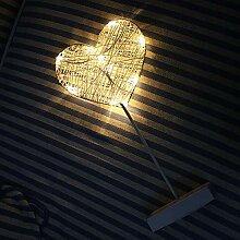 RENNICOCO LED-Nachtlicht-Stern-Liebes-Form ohne