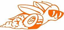 Rennschnecke Aufkleber , 50 cm, orange
