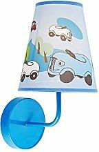 Rennwagen Schirm und blaues glnzendes Metall Kinder Wandleuchte von Haysoms