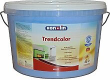 Renolin Trendcolor 5 Liter Wandfarbe Blau Matt, Wand- & Deckenfarbe für ca 30 m²