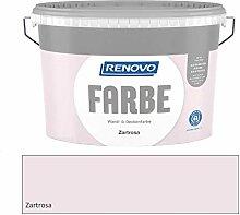 Renovo 5 Liter Wandfarbe Zartrosa, Rosa Matt, für
