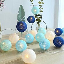 Renqian Chanukka Led String Cotton Balls