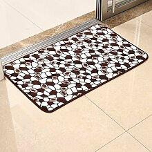 RENQINGLIN Bad Sanitär Saugfähigen Rutschfeste Matte Haushalt Bad Teppich Fußmatte Fußmatte, 60 * 90 Cm, Kaffee Stein