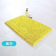 RENQINGLIN Chenille Mat Mat Wasser Abwaschbar Sanitär Badezimmer Tür Mat 40 * 60 Cm, E