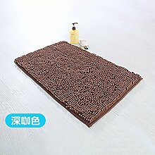 RENQINGLIN Chenille Mat Mat Wasser Abwaschbar Sanitär Badezimmer Tür Mat 40 * 60 Cm, M