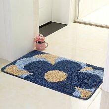 RENQINGLIN Fußmatte Fußauflage Rutschfeste Polster Schlafzimmer Matratzenauflage Bäder Geben Sie Pads Saugfähigen Untergrund Matte, 40 × 60 cm, C