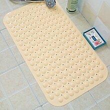 RENQINGLIN Geschmacklos Wasserdicht Badezimmer Dusche Badezimmer Teppich Matte Fuß Badematte 36 * 71 Cm, Ein