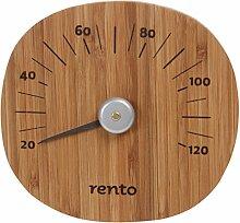Rento - Bamboo - Thermometer, Saunathermometer - Bambusholz - von 20 - 120 Grad Celsius