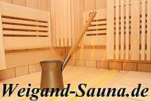 Rento Design Sauna Aufgusskanne aus Aluminium für Saunaaufguss in Champagner