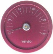Rento - Sauna Thermometer - Aluminium - Rot - 15x15x2cm