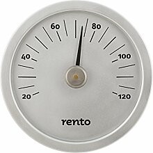 Rento - Sauna Thermometer - Aluminium - Silber -