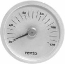 Rento - Sauna Thermometer - Aluminium - Silber - 15x15x2cm