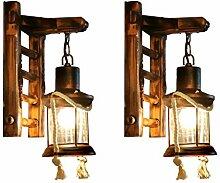 RENYAFEI Industrie Wandlampe Wandleuchten Hölzern