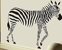 Renyqing Schwarz Und Weiß Zebra Tier Aufkleber, Zebra Körper, Groß